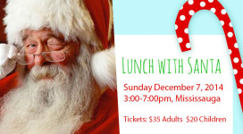 Lunch With Santa Event - Believe to Achieve Fundraiser - Sunday December 7, 2014