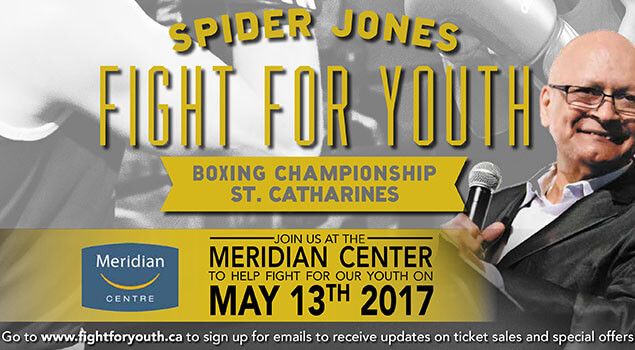 Spider Jones Fight For Youth - Saturday May 13, 2017