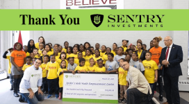 Thank You Sentry Investments For The Generous Donation!
