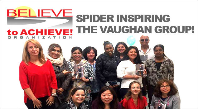 Spider Jones inspires and speaks to the adult students in Vaughan - September 22, 2017